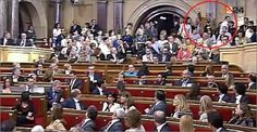 Un grup espanyolista fa gestos ultres i provoca incidents al Parlament