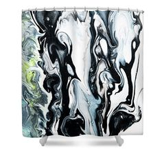 Fluid Acrylic In Tropical Jungles 3 Shower Curtain by Jenny Rainbow. This shower curtain is made from polyester fabric and includes 12 holes at the top of the curtain for simple hanging. The total dimensions of the shower curtain are wide x tall. Shower Curtain Rings, Shower Curtains, Artwork For Home, Home Art, Curtains With Rings, Jungles, Curtains For Sale, Fluid Acrylics, Different Patterns