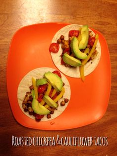 Roasted Chickpea and Cauliflower Tacos...recipe inspiration.