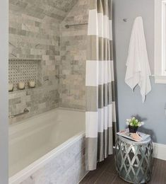 Beautiful master bathroom decorating tips. Modern Farmhouse, Rustic Modern, Classic, light and airy bathroom design some some ideas. Master Bathroom makeover a few ideas and bathroom remodel ideas. Top Bathroom Design, Gorgeous Bathroom, Bathtub Remodel, Master Bathroom Decor, Bathrooms Remodel, Farmhouse Master Bathroom, Small Remodel, Farmhouse Shower, Bathroom Design