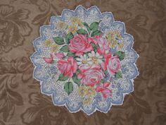 Unique Vtg Handkerchief Hanky Colorful Florals Roses Daisies | eBay