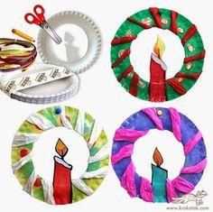 Riciclo piatti di carta - Tutorial di Natale per i bimbi- Riciclo creativo con i bimbi