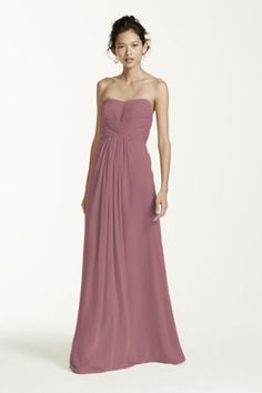The color of the bridesmaid gowns -- Quartz from David's Bridal