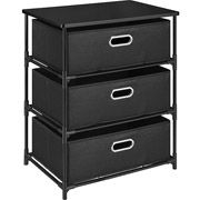 Altra 3 Drawer Canvas and Metal Storage, Multiple Colors