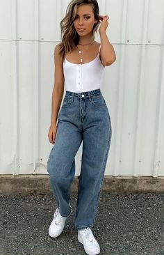 Smart Casual Work Outfit, Black Casual Outfits, Winter Outfits, Outfit Work, Edgy Outfits, Pants Outfit, Cheap Summer Outfits, Trendy Outfits For Teens, Simple Summer Outfits