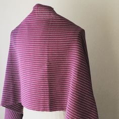 Today's handwoven scarf. #iichi #iichi #creema #pinkoi #handwovenscarf #purple #stripe #手織り #ストール #ショール #パープルストライプ #cotton #綿