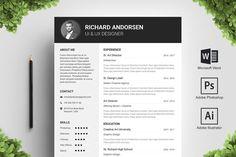 Resume / CV by Resume CV Templates on @creativemarket