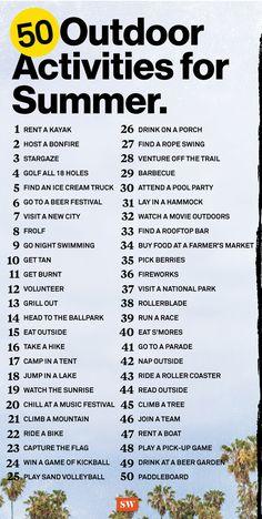 Summer Bucket List For Teens, Summer Fun List, Summer Kids, Summer Of Love, Outdoor Summer Activities, Toddler Activities, Fun Activities, Family Fun Night, Things To Do When Bored