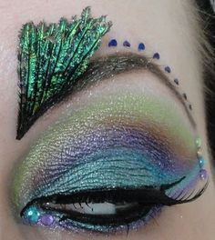 Oh My Gosh: Peacock Try Out makeup for the Elf Fantasy Fair
