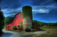 Barn at Night, Napa Valley, look at the ivy growing on the silo!!!!!!!!!!!!!!