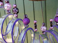 Upcycled wine bottle Wind Chime Clear glass by LindasYardArt