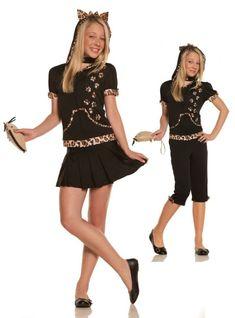 New Halloween tutu  devil skirt tail ears bow  costume adult women JR XS-M teen