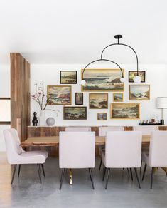 The Modern Dining Room Inspirational A Modern and organic Dining Room Makeover Emily Henderson Dining Room Art, Dining Room Design, Dining Table, Dining Room Picture Wall, Dining Chairs, Diy Table, Dining Area, Decor Interior Design, Interior Decorating