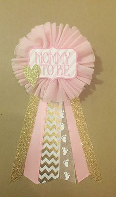 Hey, I found this really awesome Etsy listing at https://www.etsy.com/listing/227730654/pink-and-gold-baby-shower-mommy-to-be