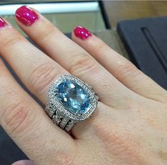 8.69ct aquamarine. At Gabriel Fine Jewelers in Modesto,ca. 29-529-2110