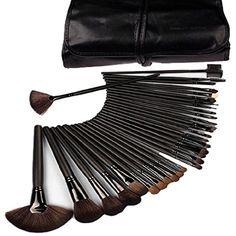 KUPOO Professional Beauty Cosmetic Makeup Brush Set Kit with Free Case 32pcs ** More info could be found at the image url. (This is an affiliate link) #ToolsAccessories