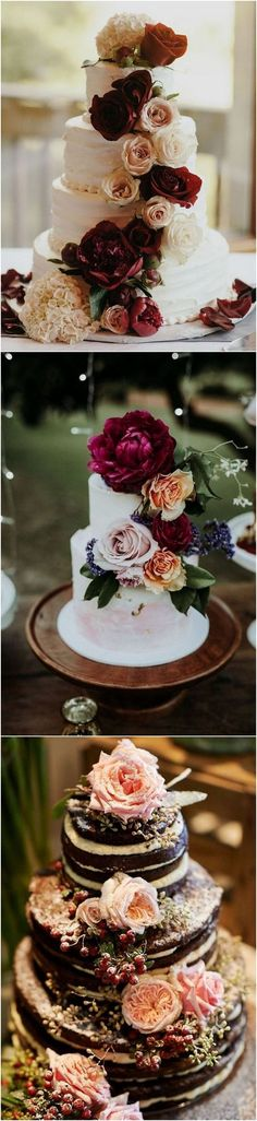 fall wedding cakes f