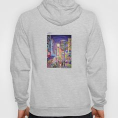 Granville At The Warehouse - Colorful City Art Painting Hoody by Morgan Ralston - $38.00