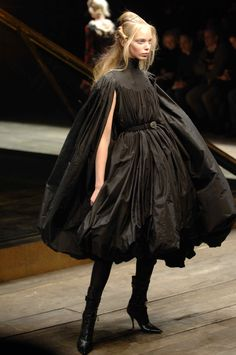 Alexander McQueen Fall/Winter 2006 - 'The Widows of Culloden' Collection. Model: Tanya Dziahileva.