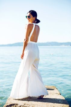 backless white outfit