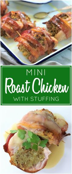 Mini Roast Chicken with Stuffing & Gravy   weeknight roast dinner   roast chicken  