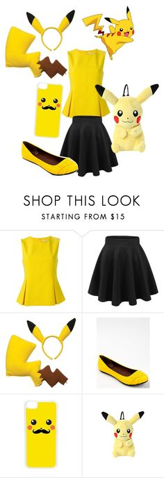 """Pikachu Costume"" by wolfgal1211 ❤ liked on Polyvore featuring Diane Von Furstenberg, Qupid and CellPowerCases"