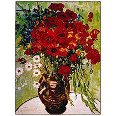 "Fritillaries in a Copper Vase  20/""x26/"" Canvas Art Print Vincent Willem Van Gogh"