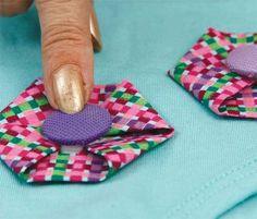Fuxico para decorar roupa - Bolsa de Mulher
