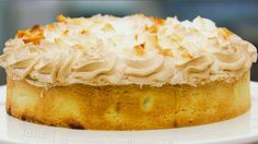 This lime and coconut meringue pie recipe is featured in Season 4, Episode 6.