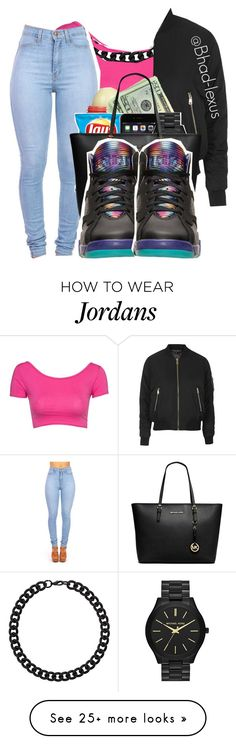 """Fye"" by bhad-lexus on Polyvore featuring Topshop, Eos, MICHAEL Michael Kors and Retrò"