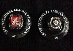 922ff4f4b22 Atlanta Braves 1995 World Series Ring Replica 1991 NL Championship Replica  Ring 1995 World Series