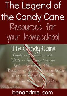 J is for Jesus (The Legend of the Candy Cane)-- resources for your #homeschool
