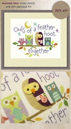 My Owl Barn: Owlsome Deal: Cross Stitch Kit