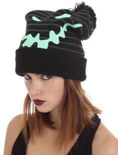 f8722ab5d66bd Disney Nightmare Before Christmas Oogie Boogie Beanie Hat Glow In Dark NWT!  Visual Kei