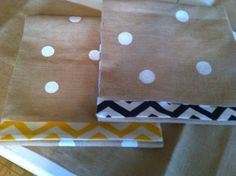On ETSY ... BURLAP table runner with polka dots & lined with contrasting fabric so it's reversable! ... bluescarlettky, $36.00
