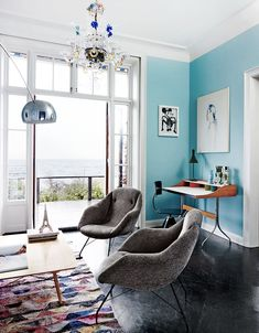 blue living room | c