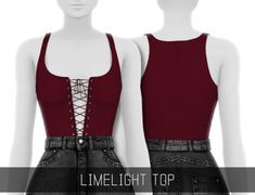 Simpliciaty - Limelight top for The Sims 4