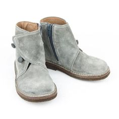 Shoes Suede Grigio - Girls - Shoes