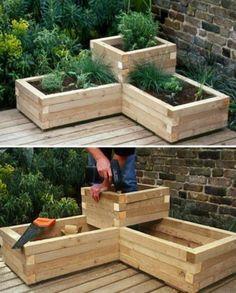Raised Herb Garden Planter Ideas Quick Video Instructions #Herbgardendesign
