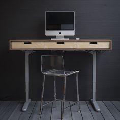 The Evolve - Electric Adjustable Standing Desk - Midcentury Modern Office Desk