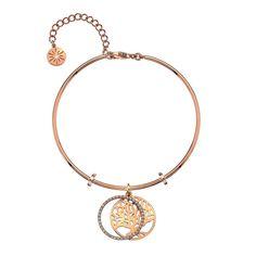Virtue Keepsake Bangle-Rose Gold Plate Tree of Life