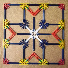 K'NEX to make patterns based on quilt blocks. Site has several sample patterns. Visual Motor Activities, Stem Activities, Fun Crafts For Kids, Craft Activities For Kids, Make Your Own Game, Family Engagement, Busy Boxes, Love Math, Math Art