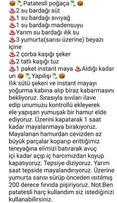 PATATESLİ POĞAÇA Turkish Kitchen, Iftar, Mac And Cheese, Beautiful Cakes, Cake Recipes, Food And Drink, Yummy Food, Cooking, Recipe