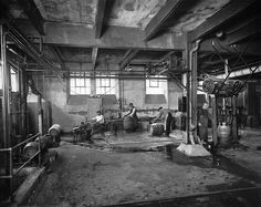 Stock Photo - Cooperage, Dawes Brewery, Lachine, QC, about 1920 Montreal Ville, Of Montreal, Photos Du, Old Photos, Stock Photos, Canada, Colonial Architecture, Far Away, Old Pictures
