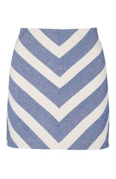 Primark - Blue Chevron Skirt
