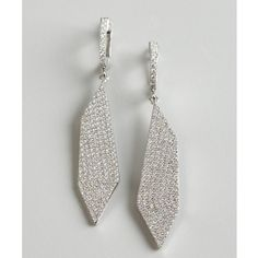 Walter Baker Silver And Crystal Wave Drop Earrings