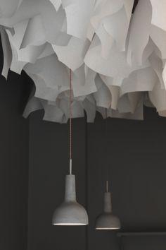 Celing paper decoration Design: Viola Tarozzi for Buildings and Love architecture - Paris