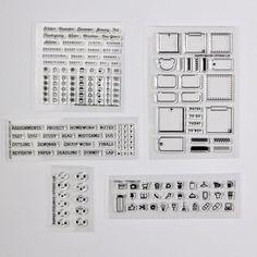 #studiol2e filofax planner stamps October Release