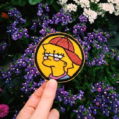 Lisa Simpson iron on patch.