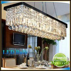 New Modern Rectangular Crystal Chandelier Dining Room Length 100cm LED Cyrstal Pendant Light Ceiling Lamp Chandiliers Lighting from Delightled,$301.53 | DHgate.com